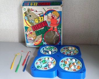 Fishing game - vintage toy - Kawaii - Antelope Corp. 1986