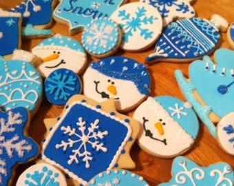 Custom Winter Fun Sugar Cookies