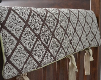 custom made:reversible crib railing covers