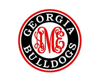 Georgia Bulldogs monogram instant download cut file - SVG DXF EPS ps studio3 studio (monogram font sold separately)