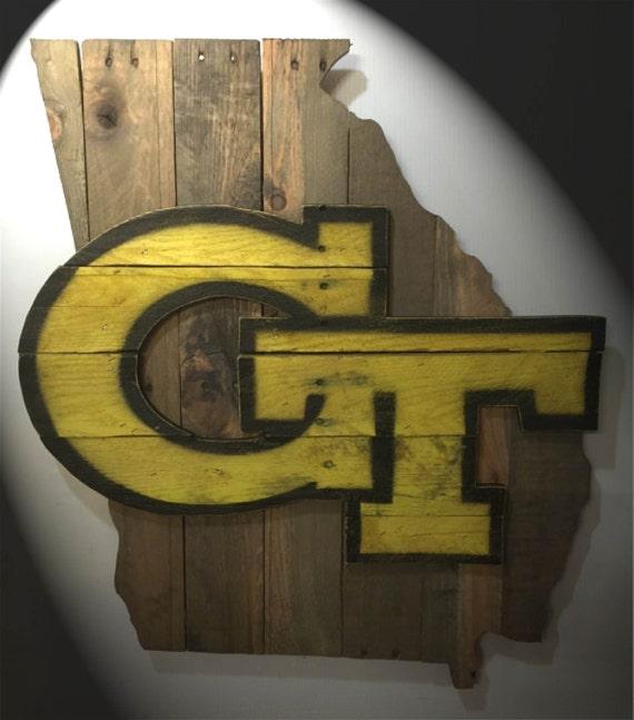 Georgia Tech wooden pallet wall art by MacDonaldsCreations ...