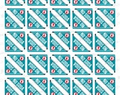 Set of 60 NO SODA Corner Stickers for Various Planners, Calendars, Journals