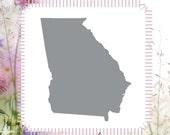 Georgia USA State Craft DIY Reusable Stencil
