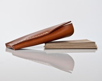 Personalized Vertical Wallet,Cardholder in Beech Nut,For Him,Card Holder,Business Card Holder,Minimal Wallet,Gift