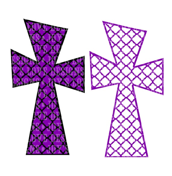 Items Similar To Funky Quatrefoil Cross Svg And Dxf