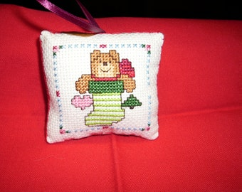 Handmade Crosstitch Christmas Ornament