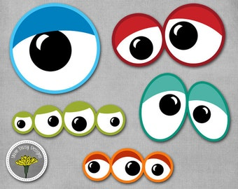 monster eyes photo props printable instant download personal use only ...