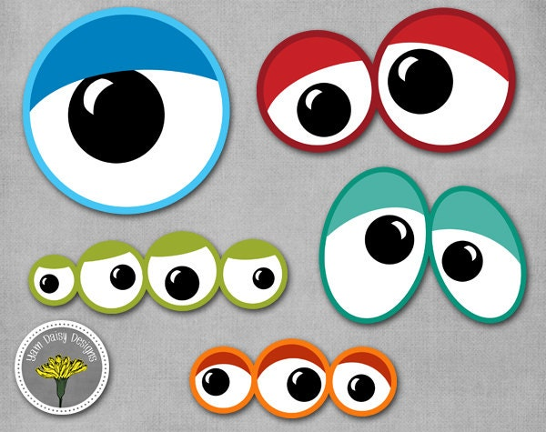 Monster Eyes Photo Props Printable Instant Download
