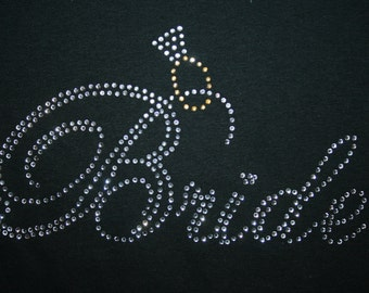 Bride w/Ring Rhinestone Tee