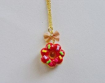Food Jewelry Pon de Ring Donuts Miniature Food Necklace - Miniature Food Jewellery,Handmade Jewelry ,Mini Food Jewelry, Donuts Necklace