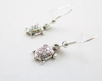 Turtle Earrings, Dangle Earrings,Turtle Jewelry