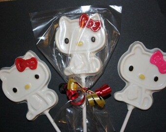 20 Chocolate KITTY Lollipop Party Favors