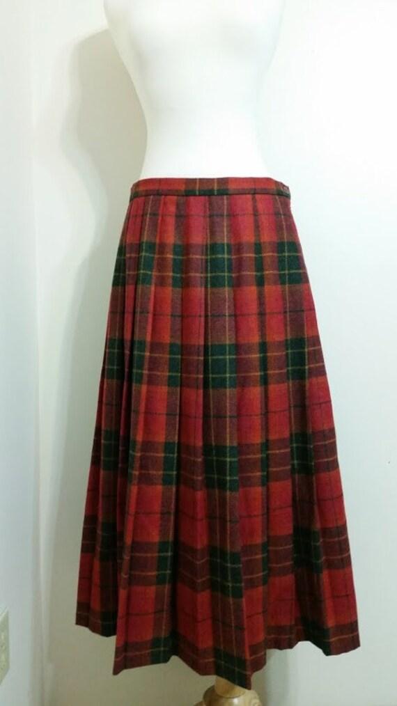Long Plaid Skirt 85