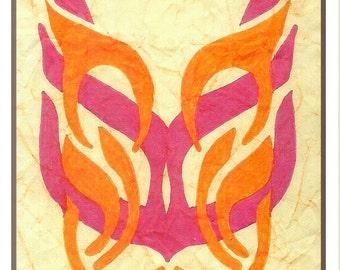 JUDAICA - JEWISH ART   Jibuk (hug) monogram