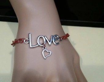SALE.  Red Love Bracelet