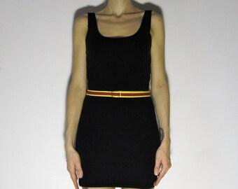 Vintage Skinny Belt High Waist Fabric 1970s