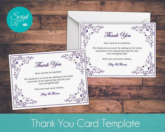 thank you card template free color change diy by scriptandlily. Black Bedroom Furniture Sets. Home Design Ideas