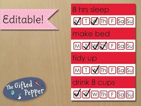 Printable planner stickers habit tracker for Erin Condren