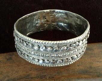 Ethiopian,Yemen,Harrar  antique silver bracelet.