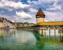 Chapel Bridge, Lucerne (Switzerland)
