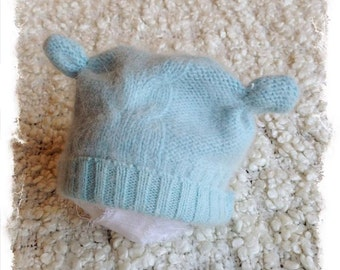 new born up cycled hat,photo prop