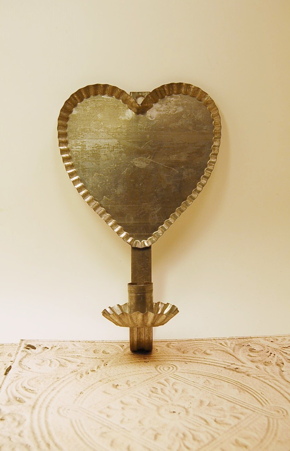 Tin Wall Sconce Candle Holder : Tin Candle Wall Sconce Holder