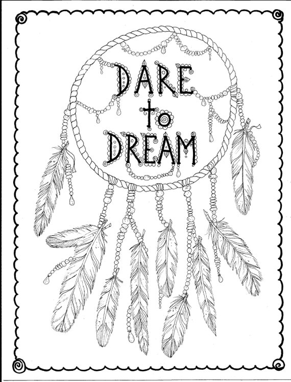 Colouring Pages Kookaburra Native American Dreamcatcher Coloring Free Here