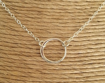 SALE!!!! Eternity Necklace, Sterling Silver Infinity Necklace, Karma Necklace, Circle Necklace, Mother Gift, Gift For Her