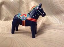 Dalahast Swedish Folk Art Doll Horse Folk Art Wood