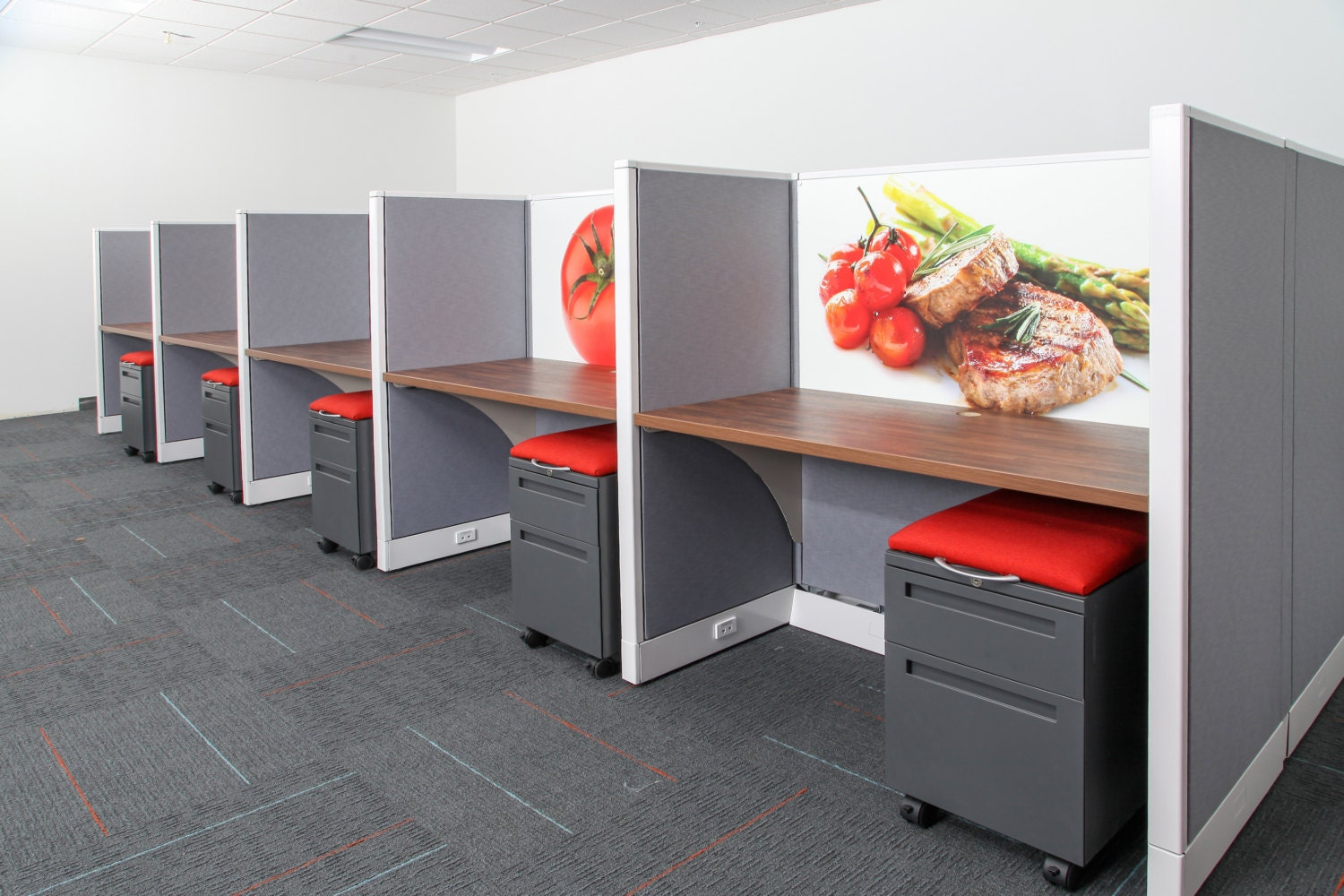 refurbished office cubicles call center stations cool
