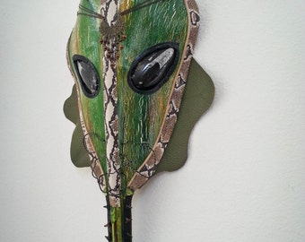 Handmade Palm Frond Mask (Nile Virus)