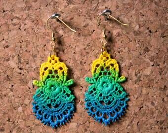 Lace Earrings, Fish Hook, Dangle