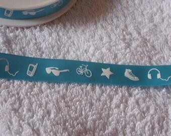 Urban Ribbon - Turquoise - 2 metres.