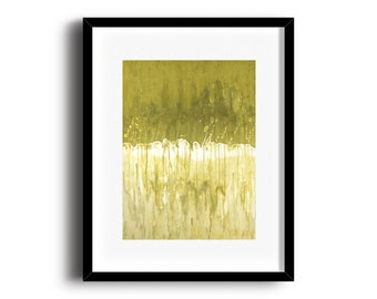 Monochromatic abstract art print, modern colorful print, green art print 5 x 7 - available in different sizes