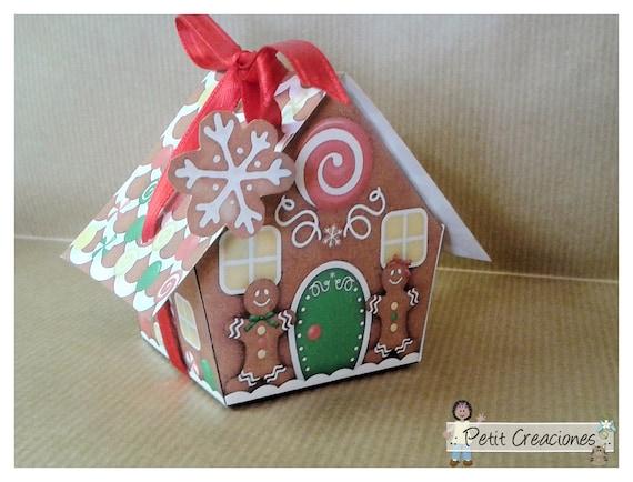 "PRINTABLE GIFT (or treats) BOX ""Gingerbread house"" (digital ..."