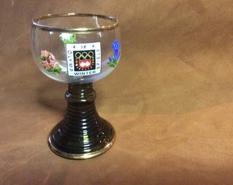 Vintage drinking glass from 1964 Innsbruck Olympic Games