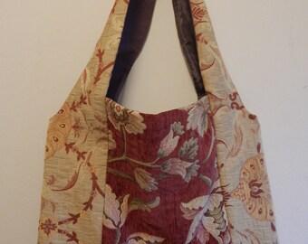 Handmade Tapestry & Embroidered Velvet Shoulder Bag