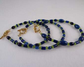 3 Glass Bracelets