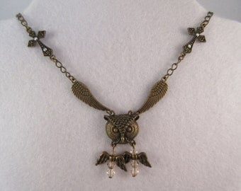 Owl & Angels Necklace