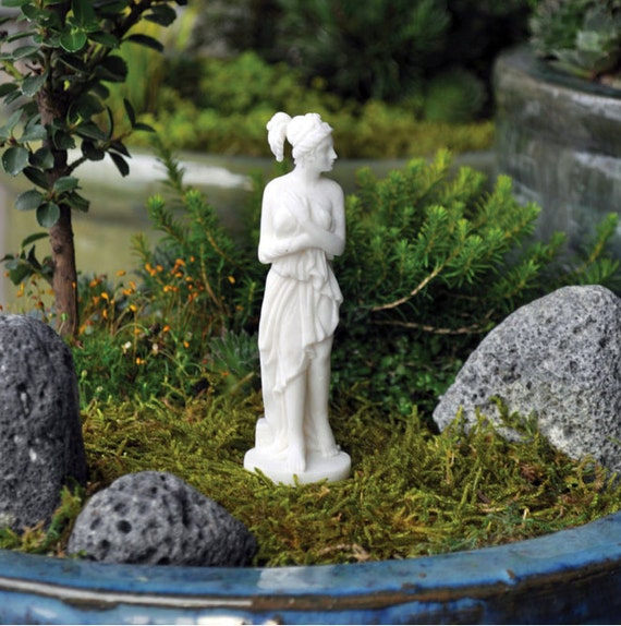 Miniature jardin Statue grecque déesse Vénus DIY succulentes