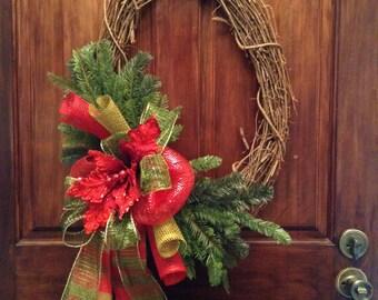 Grape vine wreath for Christmas