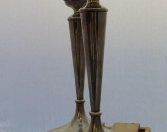 vintage elegant sterling Shreve candlesticks