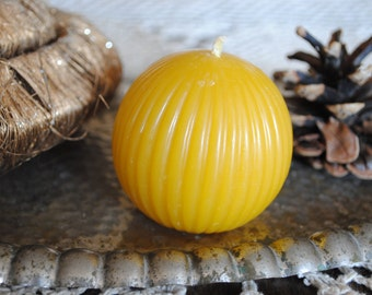 Beeswax Giant Ball Candle - Xmas, Christmas Table Centre Piece - Giant Sphere Beeswax Candle