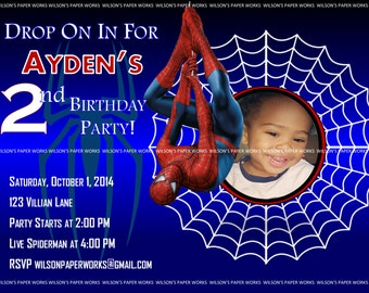 Spider Man Invitations Instant Download DIY