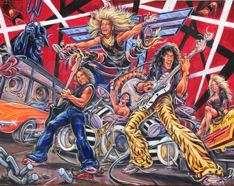"Van Halen Painting ""Unchained..."" from Art By Dano"