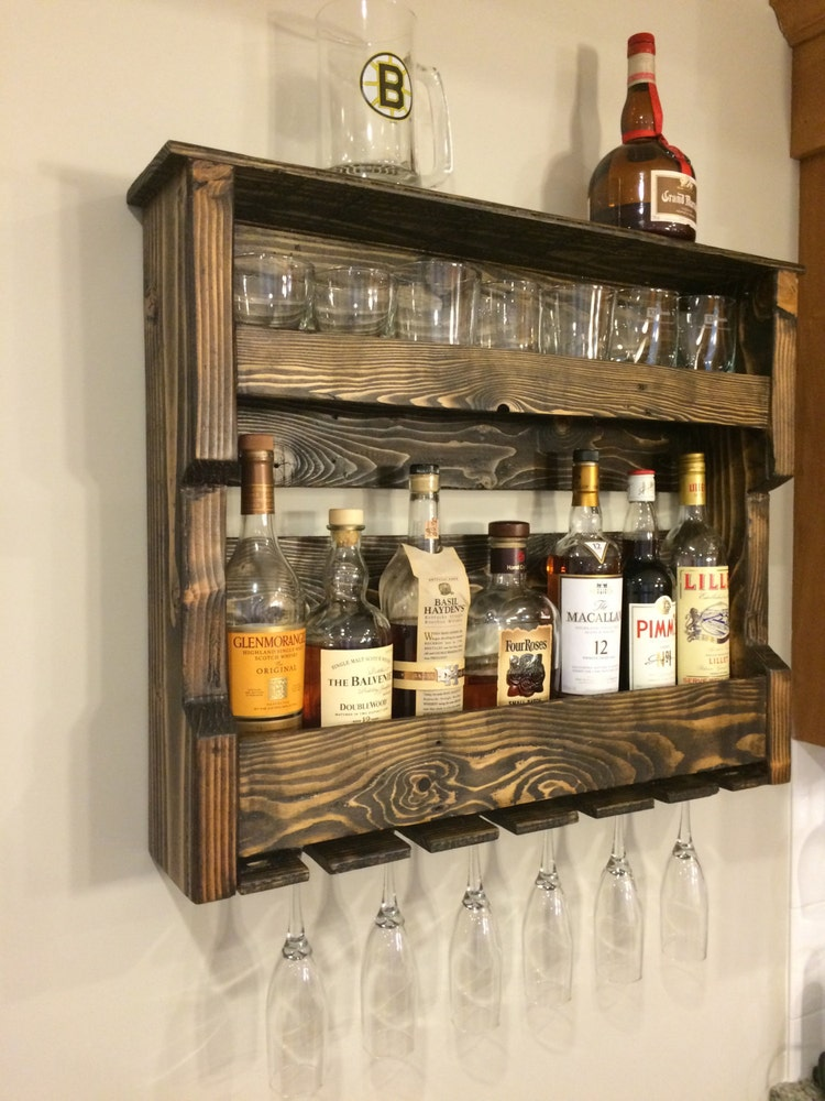 Wood Wine And Or Liquor Shelf Rack Pallet By