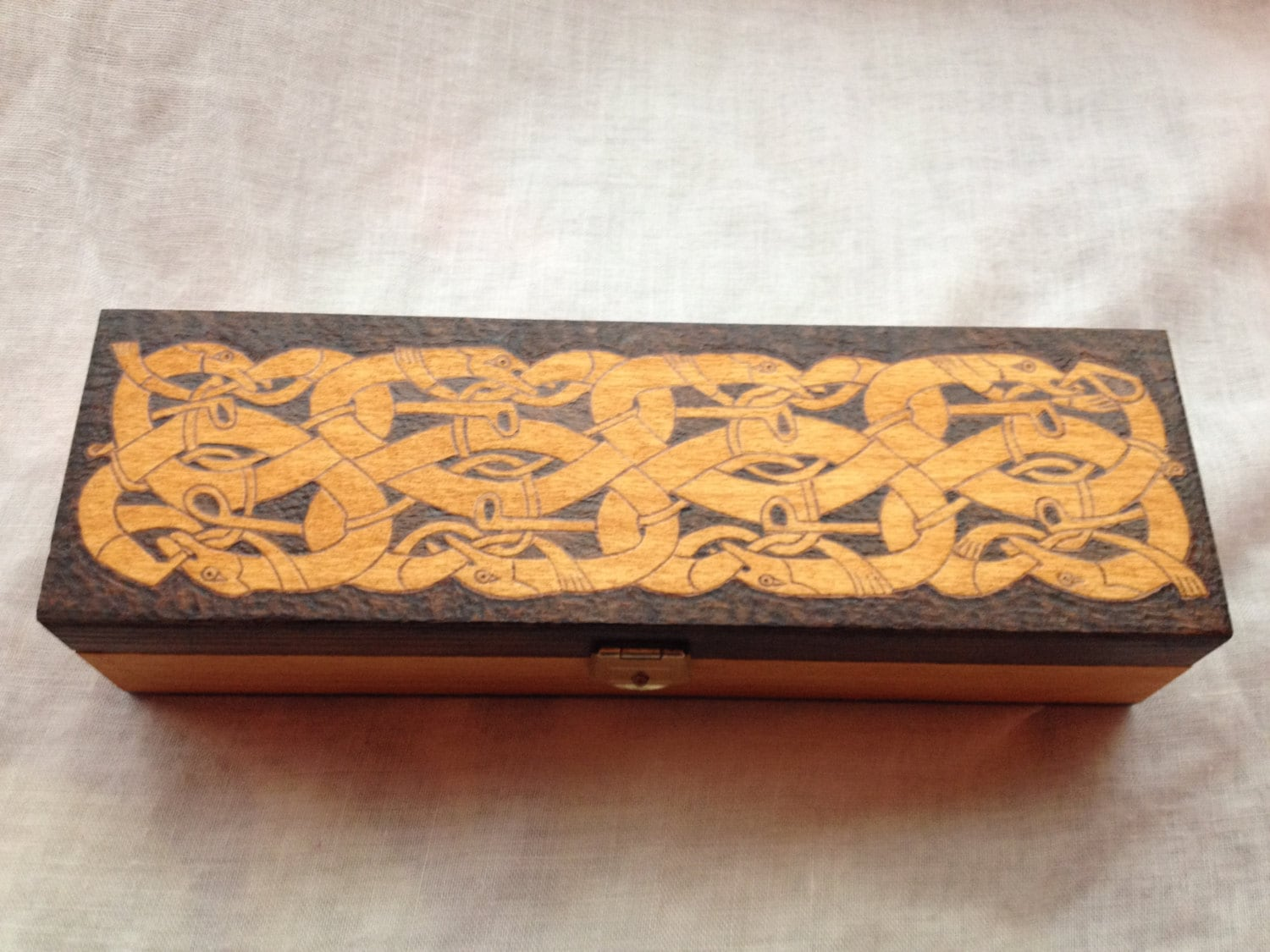 Box with viking motifs for pencils and pens for Viking pencils