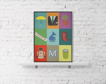 How I Met Your Mother Poster -digital file, instant downloadow -Wall Decor