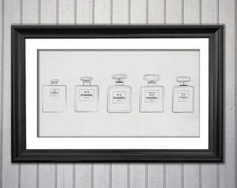 Chanel N5 Parfum Poster -digital file, INSTANT DOWNLOAD