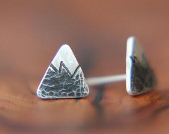 Zina - Rocky Mountain studs, sterling silver stud earrings